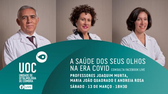 Professores Joaquim Murta, Maria João Quadrado e Andreia Rosa